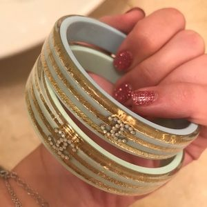 Jewelry - Blue and Gold Bangle